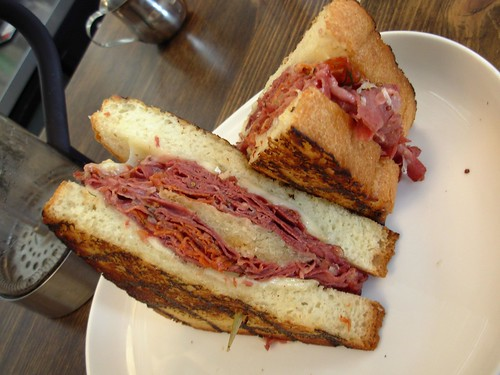 Tongue grilled sandwich