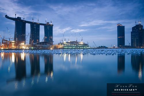 Singapore at Day Break - Marina Bay Sands