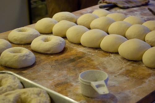 making bagels