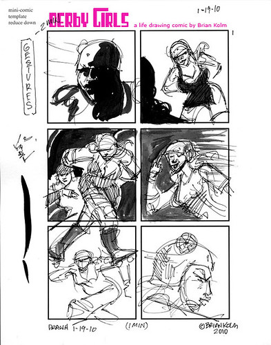 Dr Sketchys SF- Derby Girls comic page 1