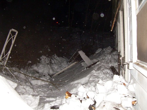 Roof collapsed under snow