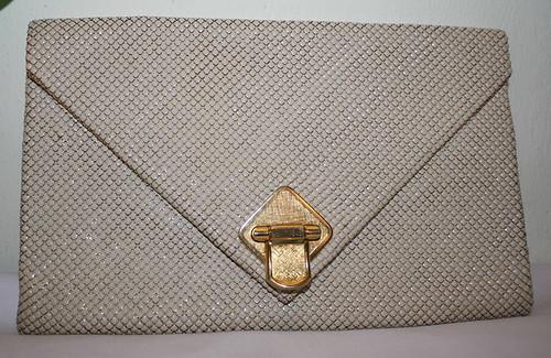 Vintage Handbag Envelop Ivory Glomesh Australia