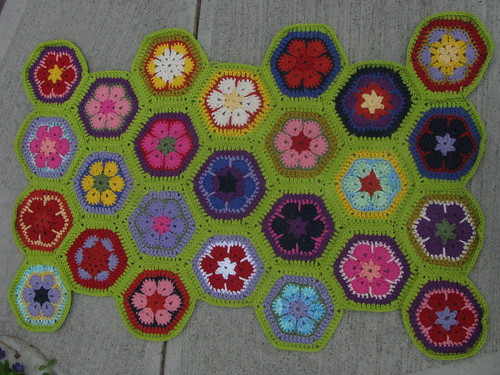 1st Cotton Collection of Hexagons Assembled