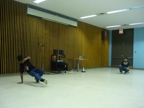 Break dancing youth