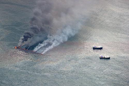 Burning Oil