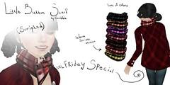 ~Scribble~ Stripes Scarves (50L Fri.) Warm Stripes