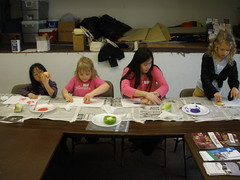 Vegetable Print Painting in Ag Class