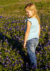 Posing among the bluebonnets