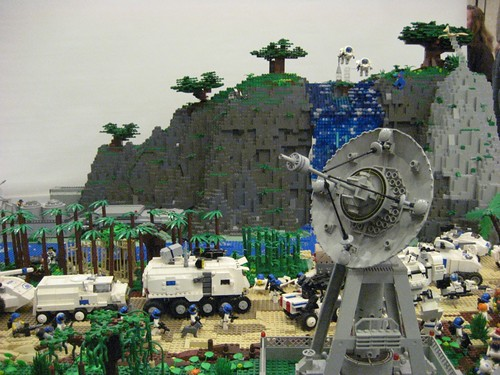 Mountain and Tower in LEGO by legosamurai