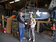 Drew King and Corsair Pilot Dick Steele