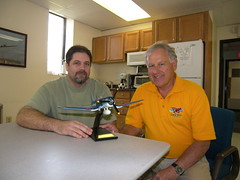 Rob Brucato & Larry Bradley of Three Wing Flying Services with Dave Browns donated Corsair