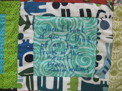 Gwen's memory quilt #2