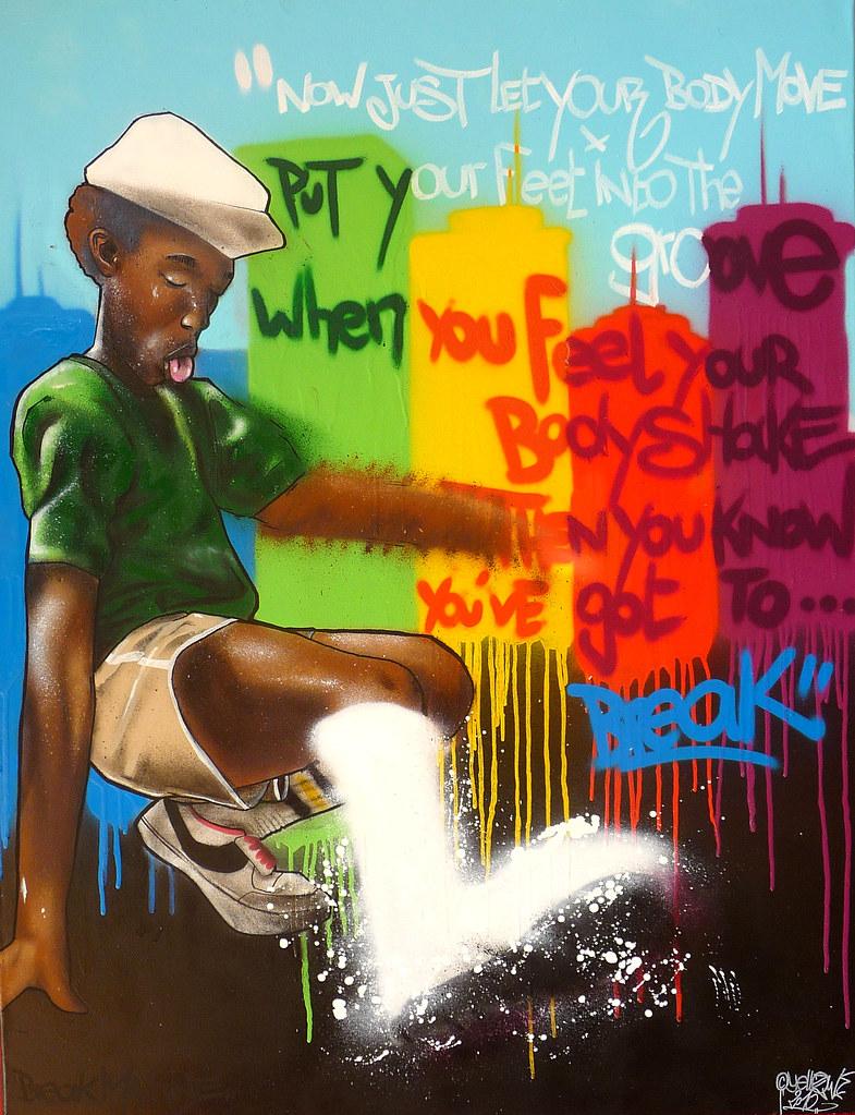 breakdance graffiti