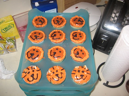 Tiger and Lion Cupcakes