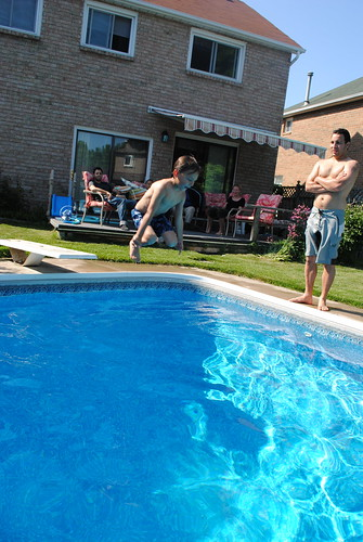 Brodie Jumps into Pool