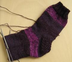 lila 8-fach Socken