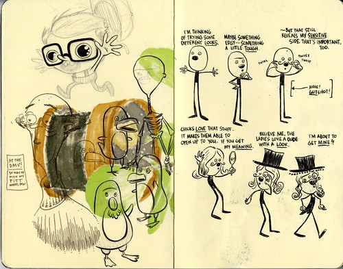 SKETCHBOOK SPREAD | Pages 34-35 by DHARBIN!.