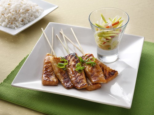 Max's Salmon Belly Skewers