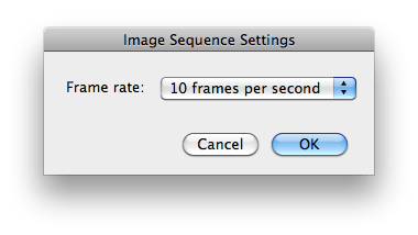 Creating an image sequence