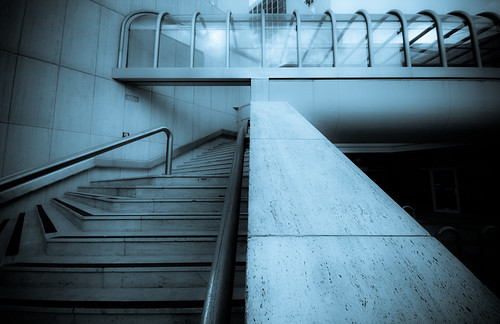 Cyanotype Steps Corridor (by orb9220)