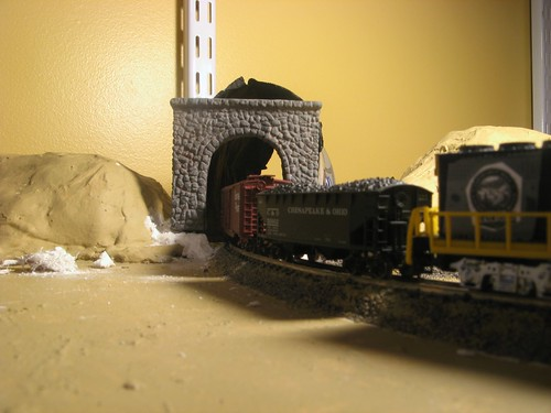 Test-fit of tunnel portals and lining.