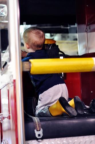 LB in a Fire Truck