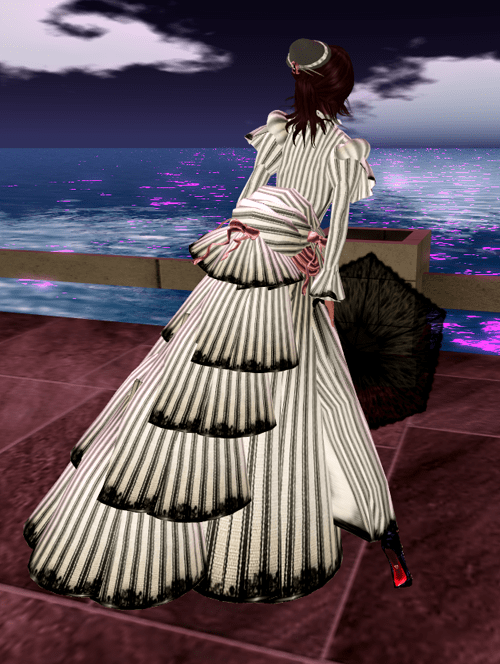 *RD* Striped Victorian Day Gown