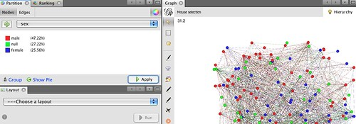 Gephi - partition colouring based oon pre-specified partititons