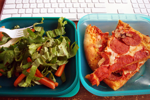 1-25 leftover pizza lunch