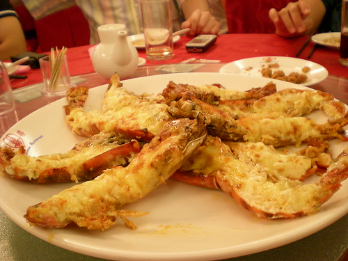 Cheesy prawns