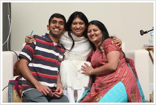 With Tanuja Didi