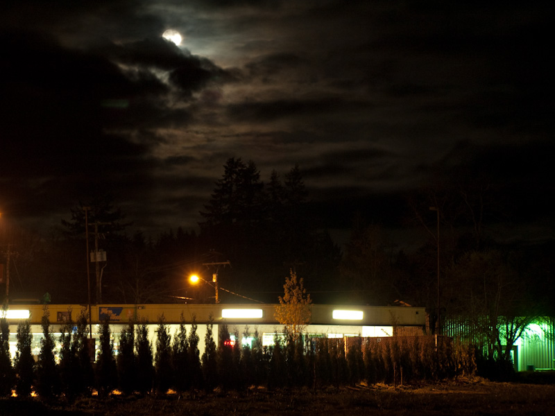 Moonrise over the Kwikee Mart