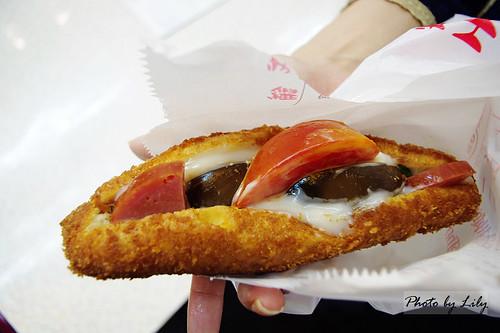 基隆營養三明治外觀。