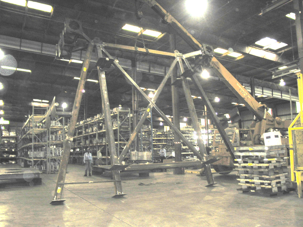 27 X 16 X 21 Structural Frame For An Offshore Site