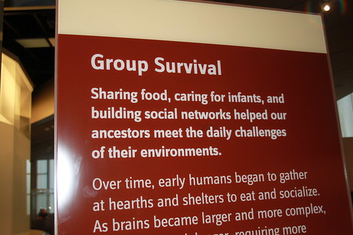 Smithsonian - Hall of Human Origins - Group Survival and Social Networks