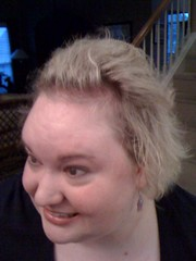 Gigi tried to bump my hair up w/bumpits. My hair looks like it came from a can!