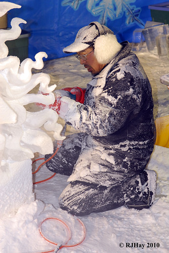The creation of a masterpiece - Winterlude ice sculptures - Feb 2010