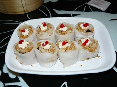 Mayonnaise Crispy Rice Rolls (Dim Sum by Chef Lau)