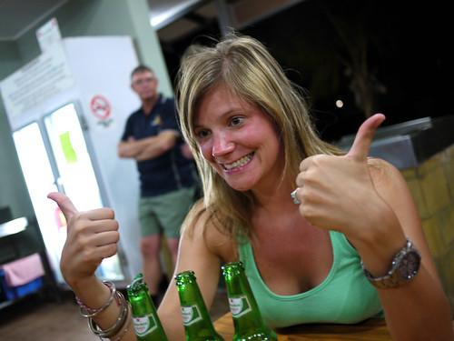 Saskia <3 beer