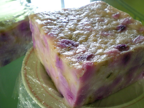 Steamed yam cake