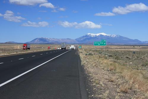 Humphreys Peak from I-40 in Arizona