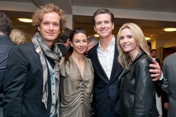 Yves Behar, Sabrina Buell, Mayor Gavin Newsom, Jennifer Siebel Newsom