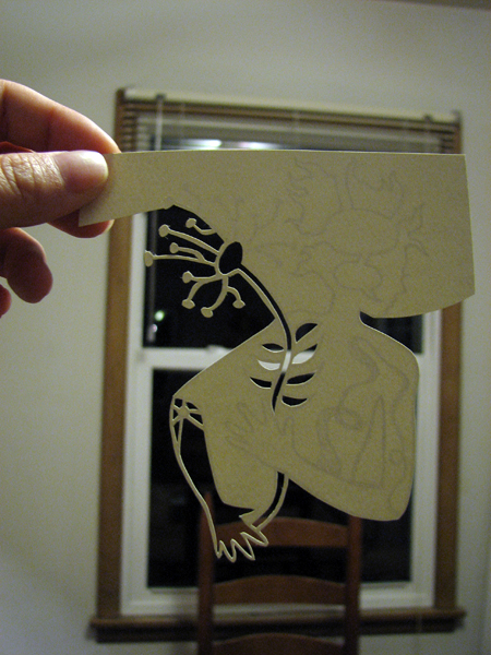 Sketch of cutting