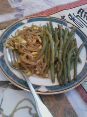 marinated soy & green beans