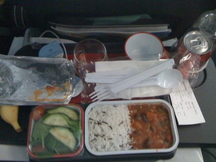 My in-Flight Vege Meal