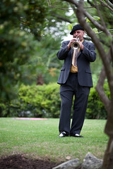 The trumpeter played the processional (All you need is love) and recessional (When I'm sixty-four)