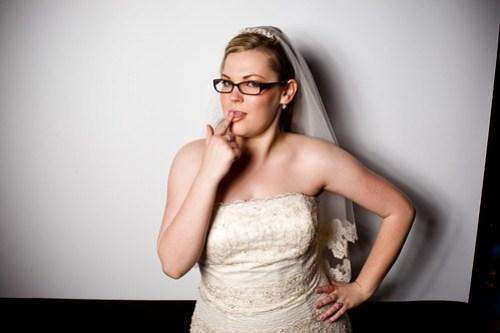 Bride having a little fun.