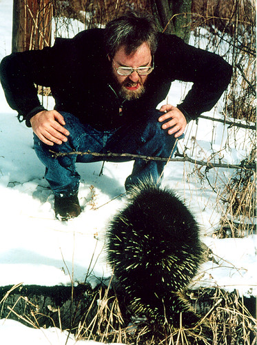me with porcupine (photo by Bruce Bonta)