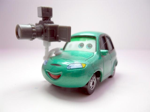 DISNEY CARS KMART COLLECTOR DAY 5 DASH BOARDMAN (2)