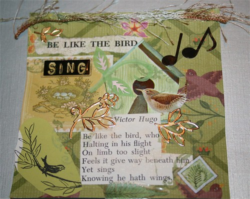 "Be Like a Bird 4"" x 4"" Collage"